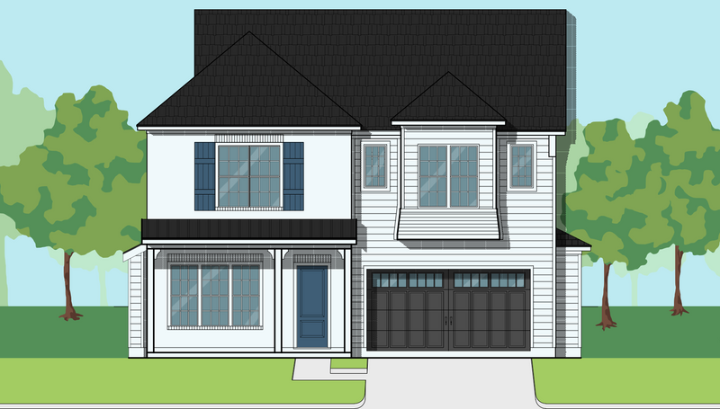 Two Story Home Plan E9078