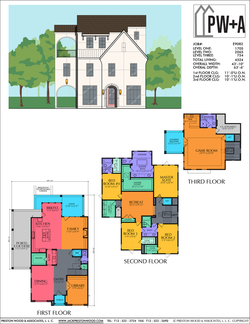 Three Story Home Plan E9082