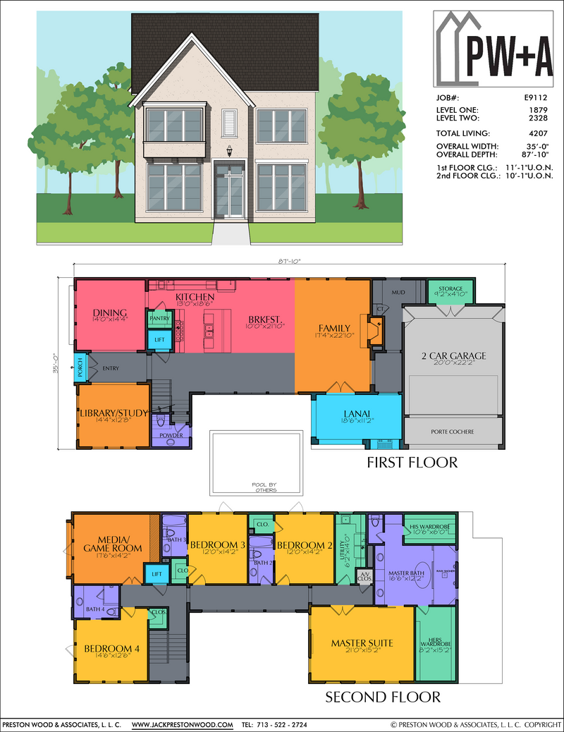 Two Story Home Plan E9112