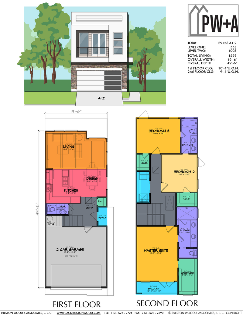 Two Story Home Plan E9126 A1