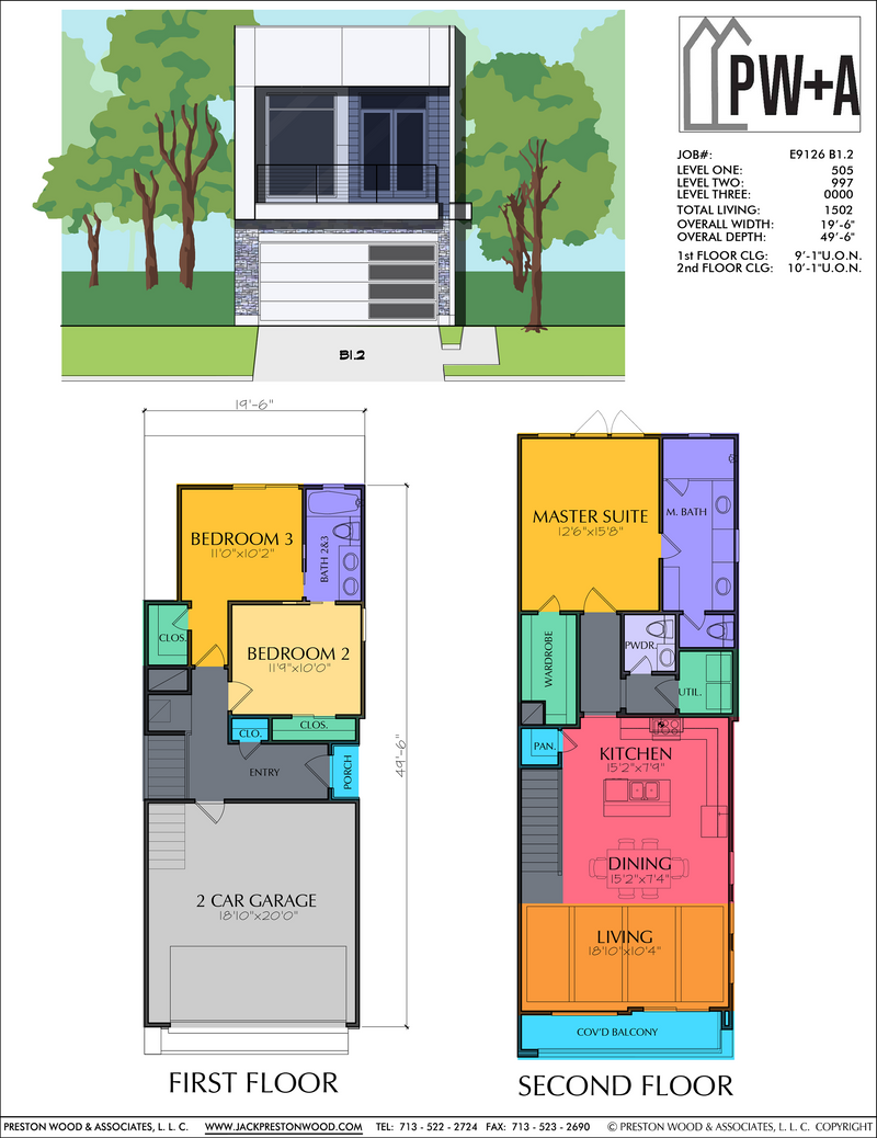 Two Story Home Plan E9126 B1
