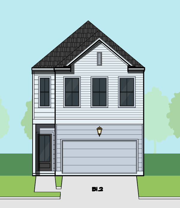 Two Story Townhome Plan E9253 B1.1
