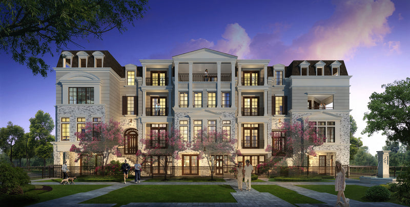Four Story Townhouse Plan E8088 - Mills