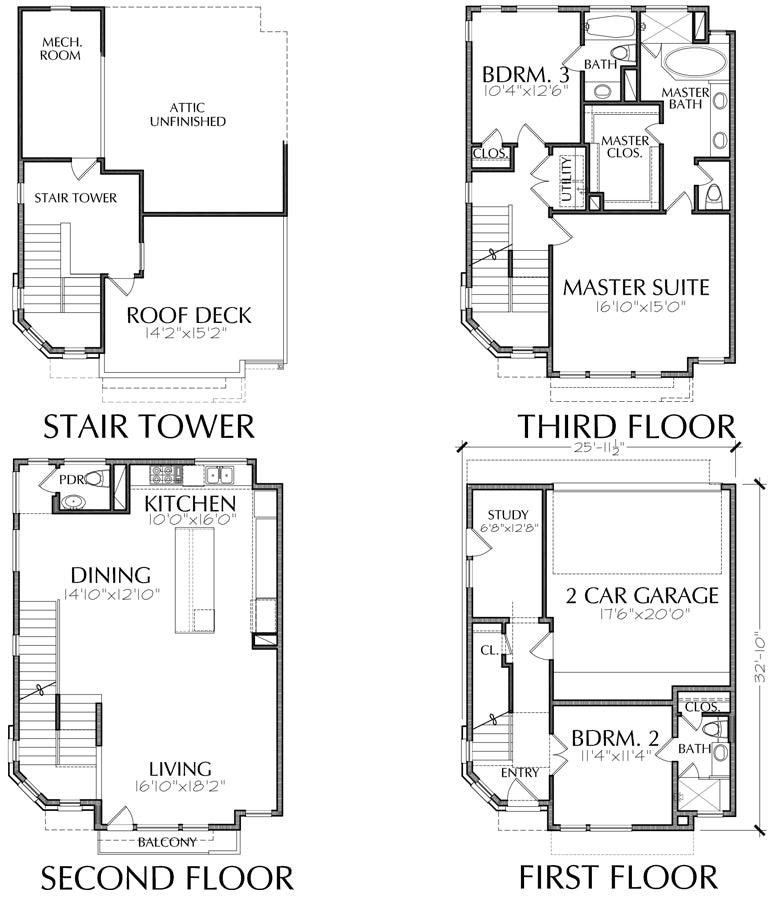 Townhouse Plan E1042 A2