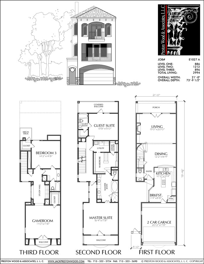 Townhouse Plan E1027 A