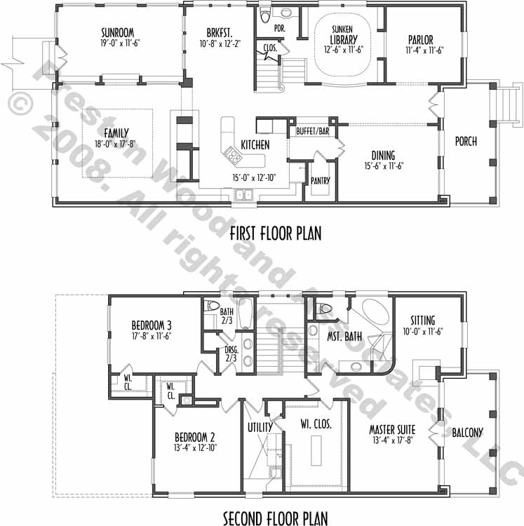 Patio House Plan C7243