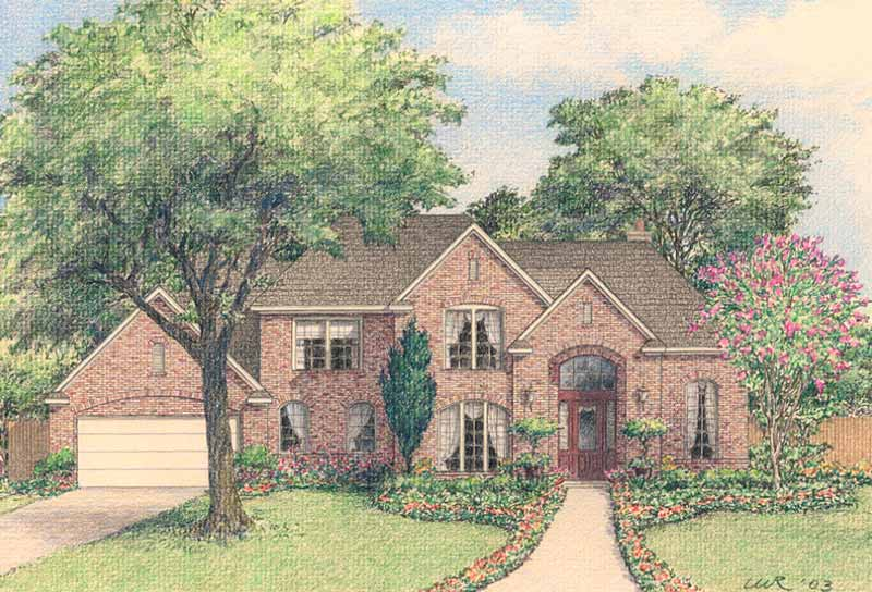 Two Story House Plan D3035