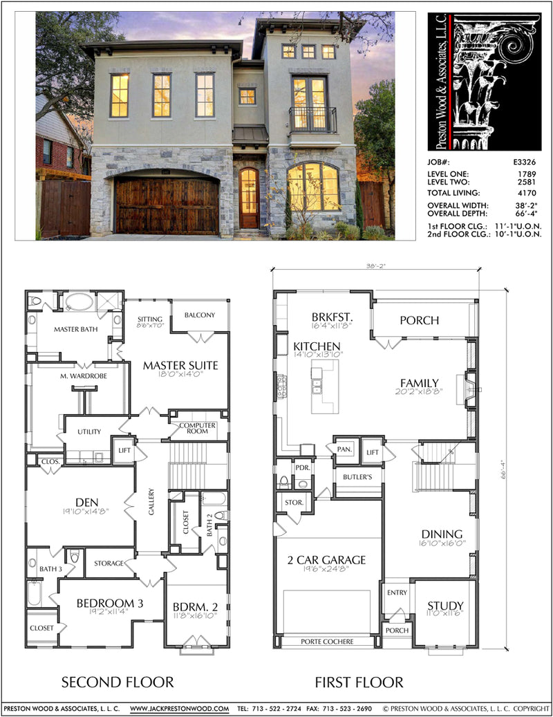 Two Story House Plan E3326