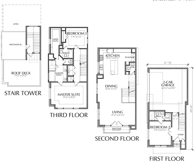 Townhouse Plan E2160 A3.1