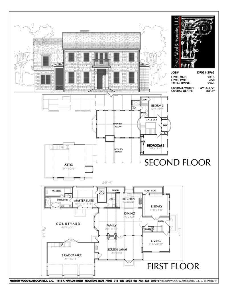 Two Story House Plan D9021