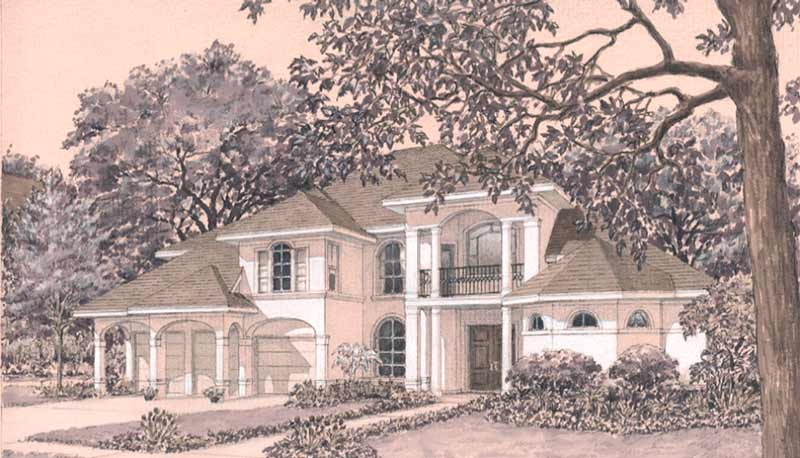 Two Story Home Plan D3078