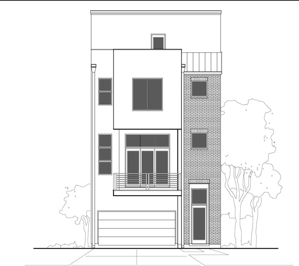 Townhouse Plan E3052 A1.1