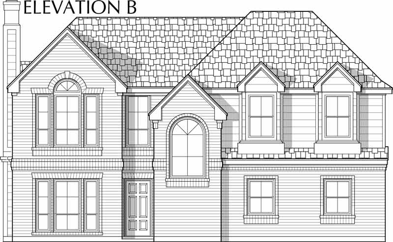Two Story House Plan C6239 B