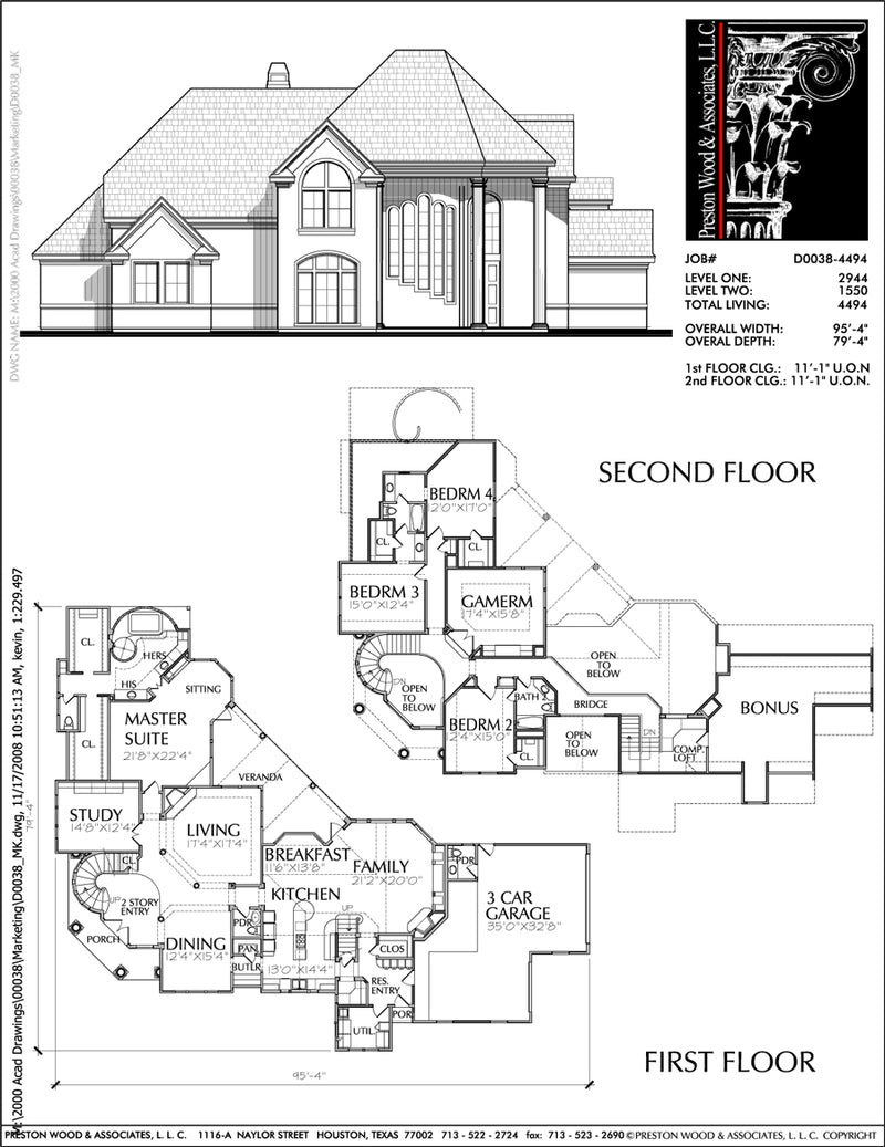 Two Story House Plan D0038