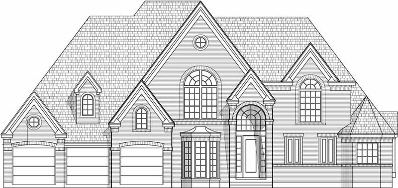 Two Story House Plan C5065