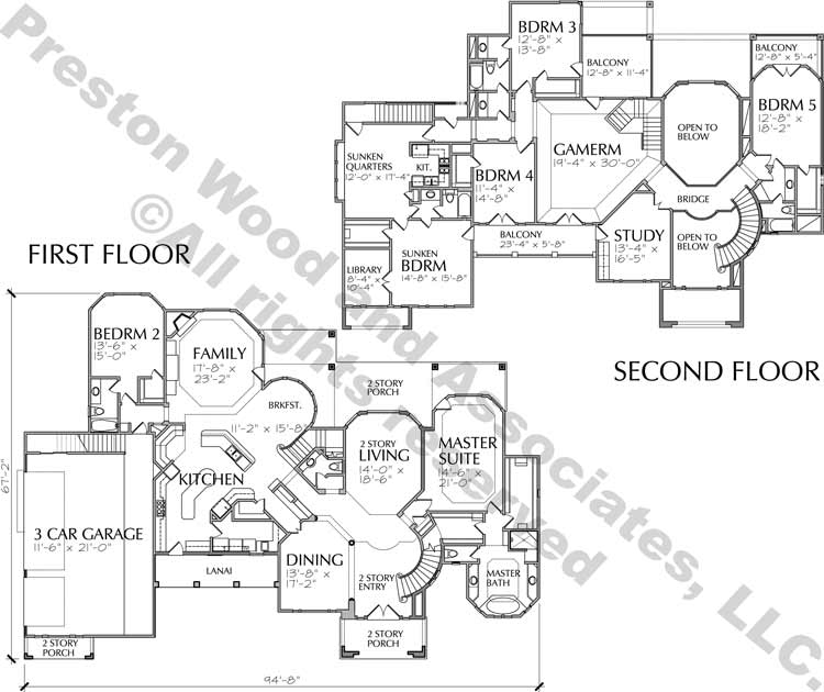 Two Story House Plan D2080