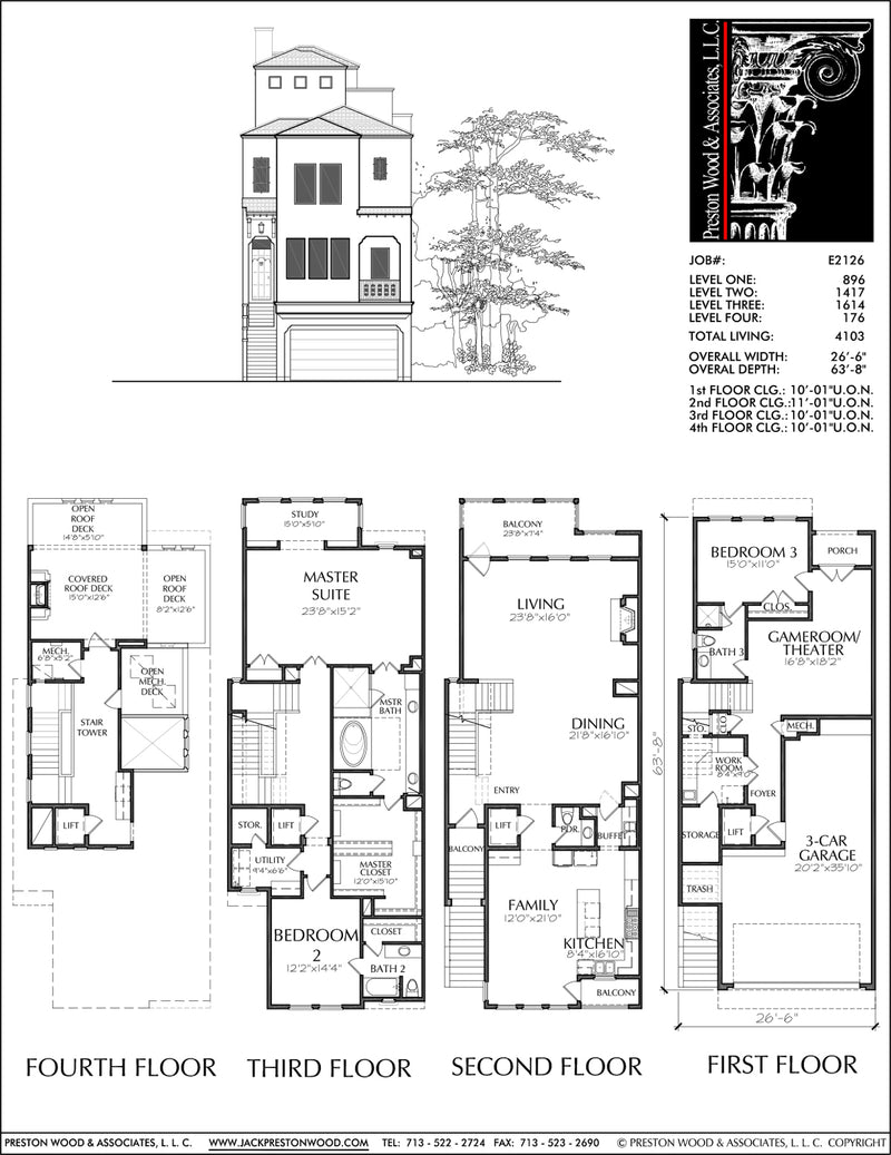 Townhouse Plan E2126