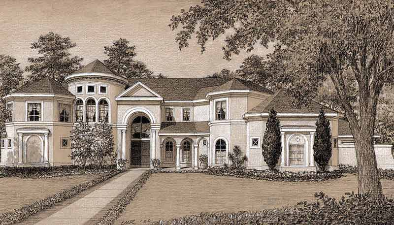 Two Story House Plan D0036