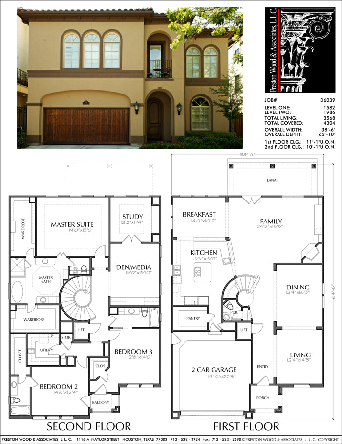 Two Story House Plan D6039