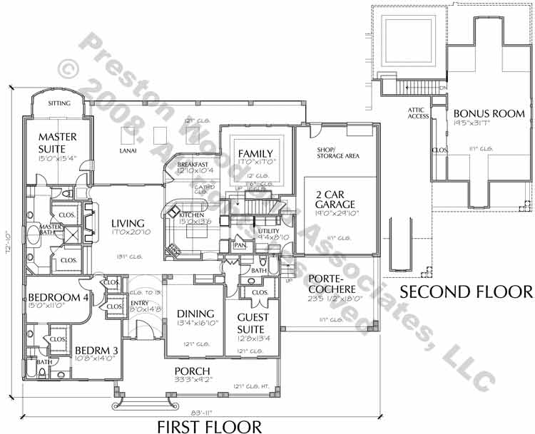 One Story Home Plan C6034
