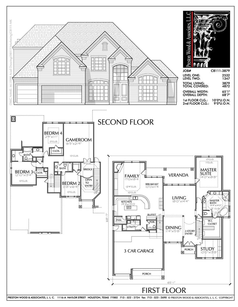 Two Story House Plan C8111