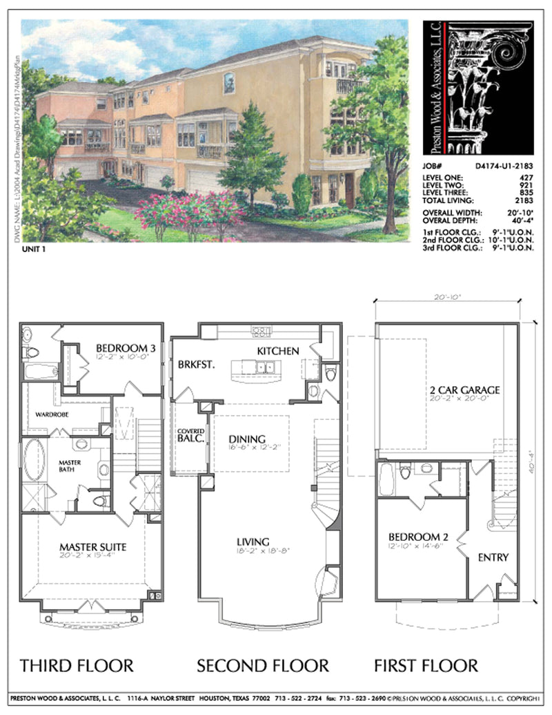 Townhouse Plan D4267 u1 & u6