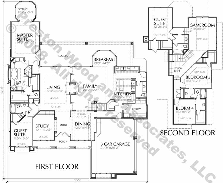 Two Story House Plan D0181