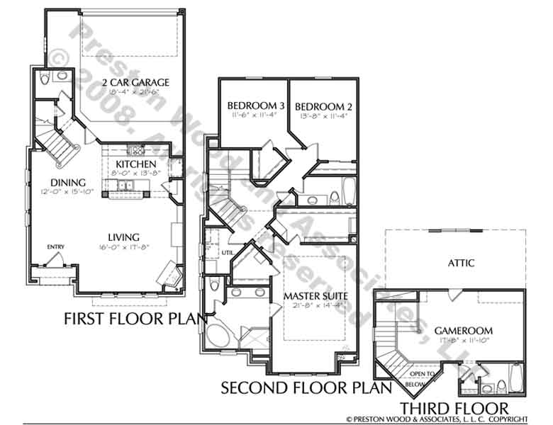 Townhouse Plan D3034 u2L