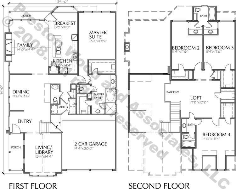 Patio House Plan C6045 B