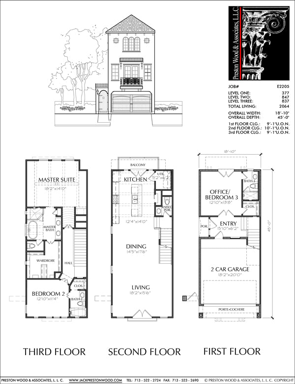 Townhouse Plan E2205