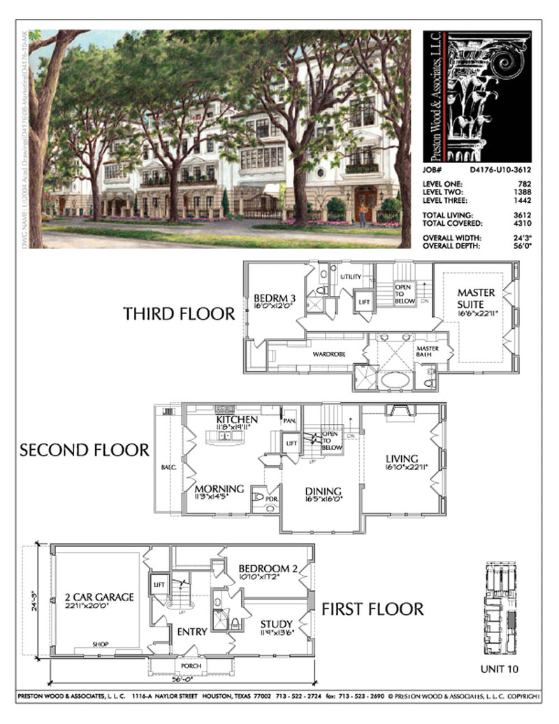 Townhouse Plan D4176 u10