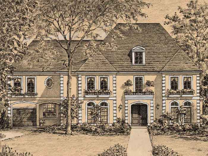 Eclectic Style Home Plan C5340