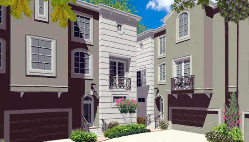 Duplex Townhouse Plan D6263 B