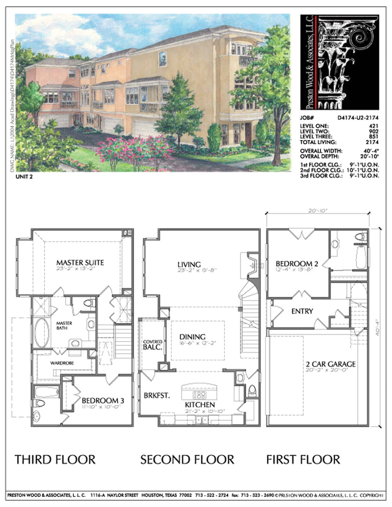 Townhouse Plan D4174-u2