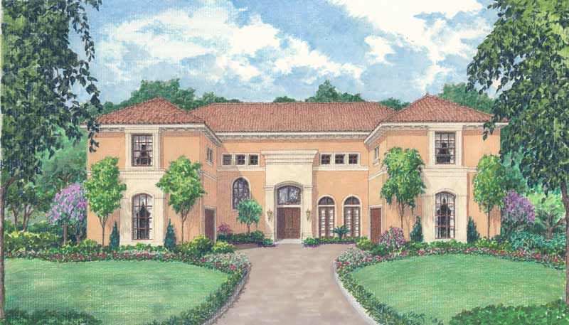 Two Story House Plan D5158