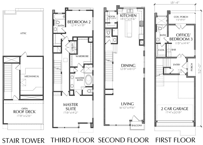 Narrow townhome plans online brownstone style homes for Townhome layouts