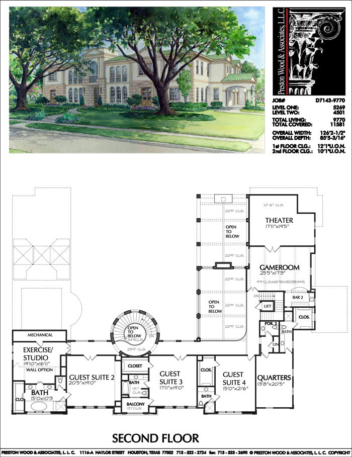 Two Story House Plan D7143