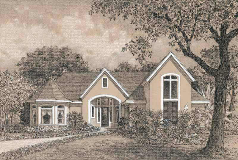 One Story Home Plan C7153