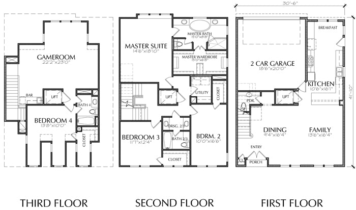 Townhouse Plan E1155 B2.3