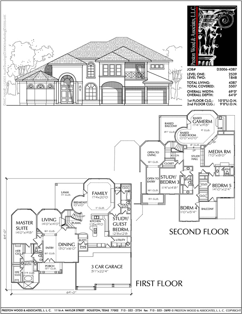 Two Story House Plan D3006