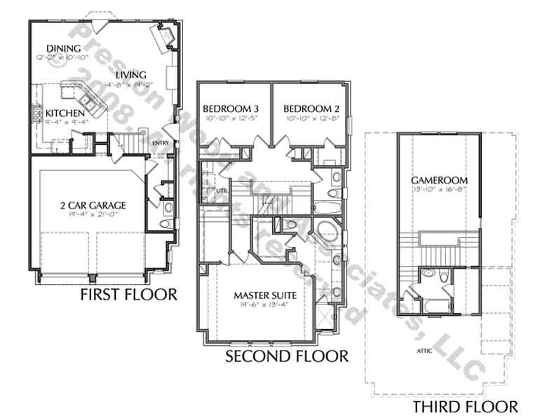 Townhouse Plan D3034 u9R