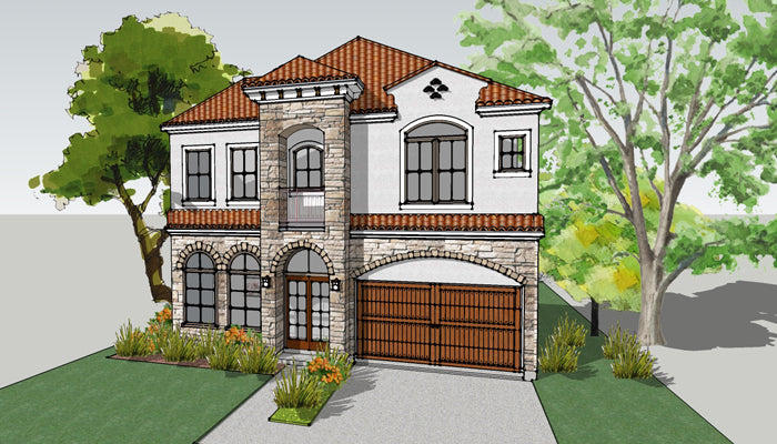 Two Story House Plan E0238