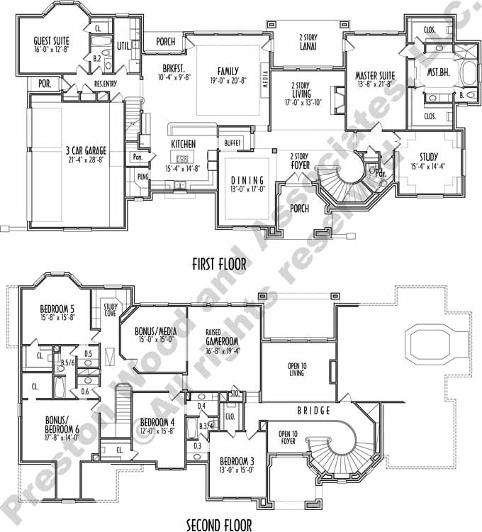 Two Story House Plan C8281