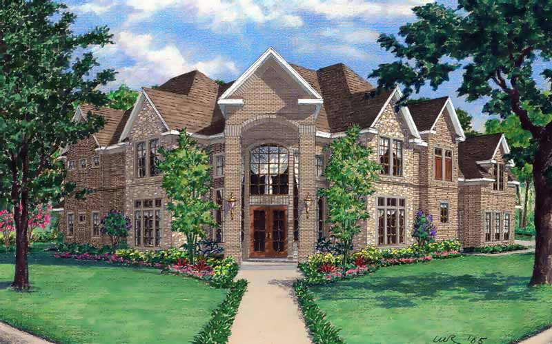 Two Story House Plan D6053