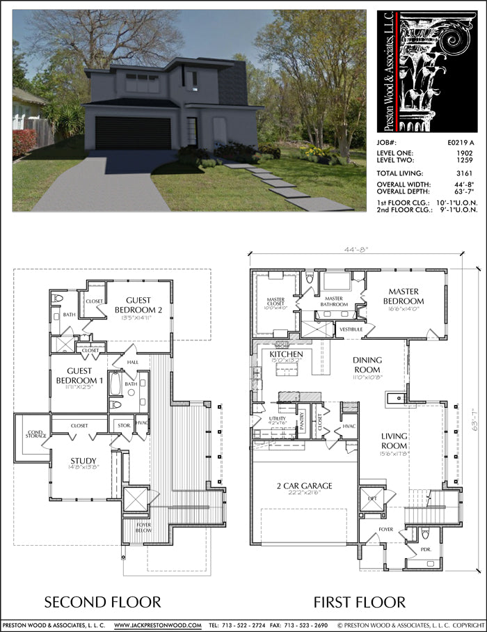 Two Story House Plan E0219 A