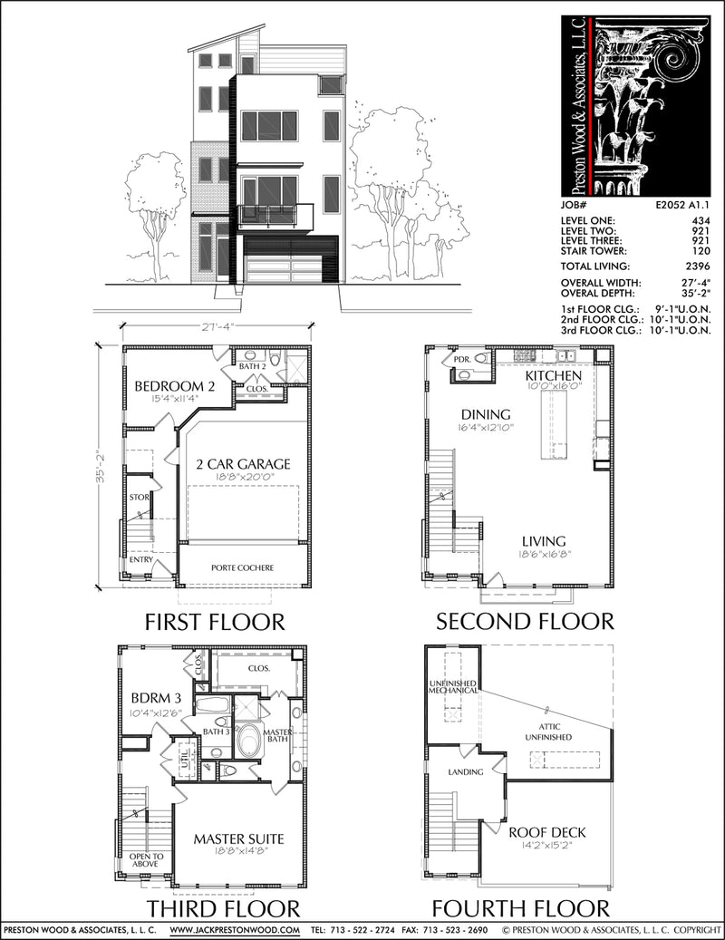 Townhouse Plan E2052 A1.1