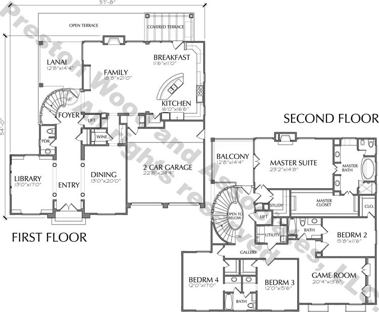 Two Story House Plan D2167