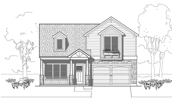 Two Story House Plan E3069