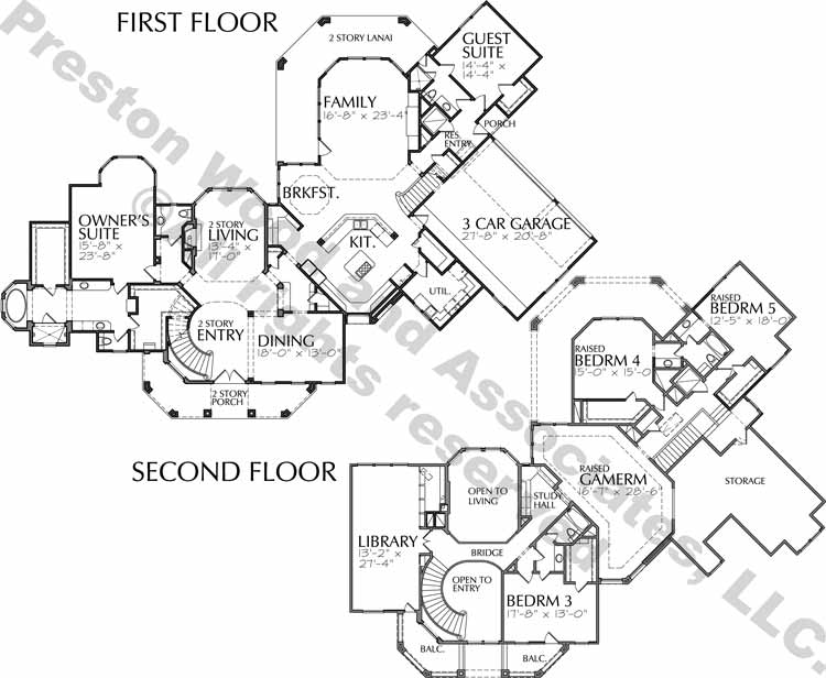 Two Story Home Plan aD0114