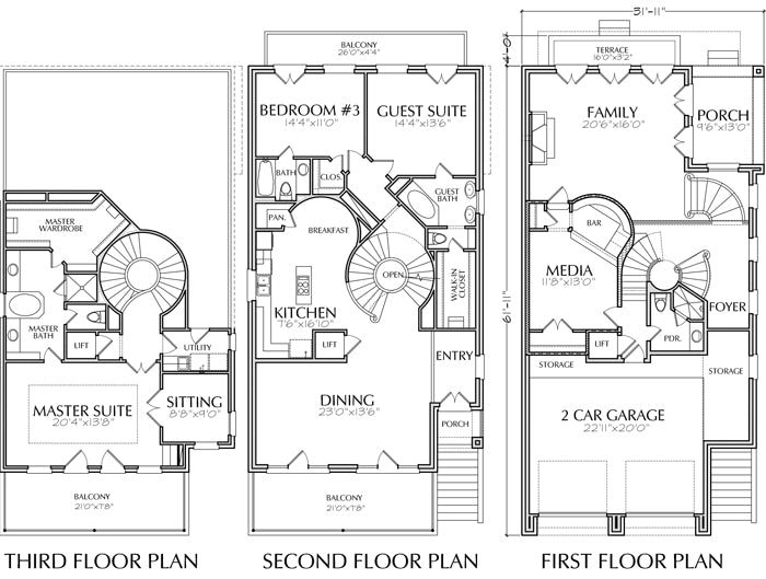 Urban House Plan C9075